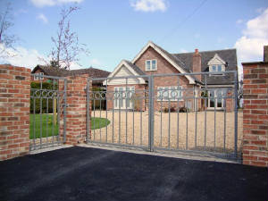 Contemporary Wrought Iron Gates